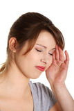 Women suffering from headache Stock Images