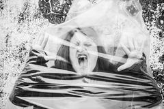 Women suffering trapped Royalty Free Stock Image