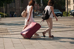 Women with suitcase Stock Image