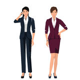 Women in suits for office. Stock Image
