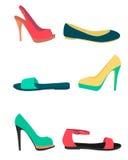 Women summer shoes Stock Photos