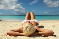 Women sunbathing Stock Photos