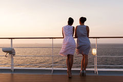 Women sunrise cruise Royalty Free Stock Images