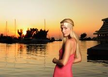 Women at sunset Royalty Free Stock Image