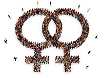 Women that support lesbian couples or marriage Royalty Free Stock Image