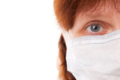 Women in surgical mask Royalty Free Stock Photo