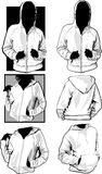 Women Sweatshirts. Blank Women's Hooded Sweatshirts Templates Vector Royalty Free Stock Image