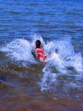 Women swiming. Woman swiming in the sea, baltic, estonia Royalty Free Stock Images