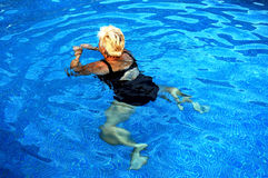 Women swiming. Swiming Royalty Free Stock Photos