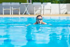 Women swimming for exercise in swimming pools stock images