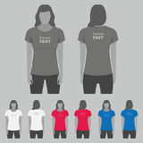 Women t-shirt design template Stock Photo