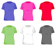 Women t shirts Royalty Free Stock Images