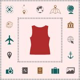 Women T-shirts, the silhouette. Menu item in the web design stock illustration