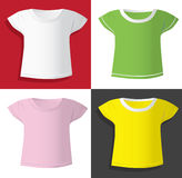 Women t-shirts templates Royalty Free Stock Images