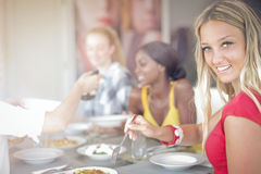 Women at the table Royalty Free Stock Photo