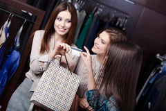 Women take away purchases Royalty Free Stock Photography