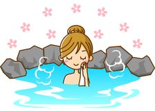 Women take a bath. This is an illustration of a Women to take a bath Royalty Free Stock Photography