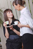 Women taking coffee break Royalty Free Stock Photography