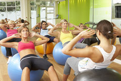 Women Taking Part In Gym Fitness Class Royalty Free Stock Photo