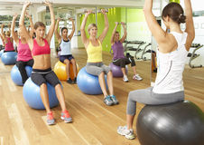Women Taking Part In Gym Fitness Class Royalty Free Stock Photography