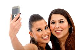 Women taking picture Royalty Free Stock Images