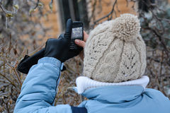 Women taking pictures with mobile phone Stock Photography