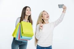 Women taking selfie Royalty Free Stock Photos