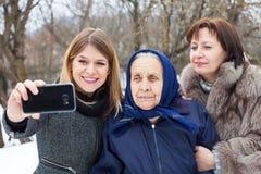 Women taking a selfie Stock Photography