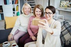 Women Taking Selfie royalty free stock image