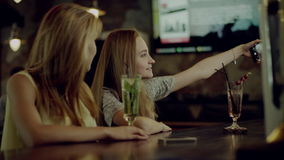 Women taking selfie stock video