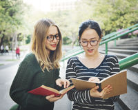 Women Talking Friendship Studying Brainstorming Concept.  royalty free stock image