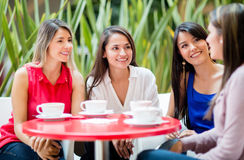 Women talking over coffee Stock Image