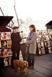 Women talking on the street of Paris Stock Photos