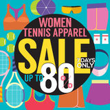 Women Tennis Apparel Sale Up To 80 Percent. Stock Photography