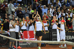 Women tennis match Royalty Free Stock Photos