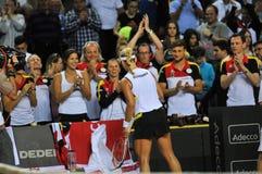 Women tennis match Stock Photo