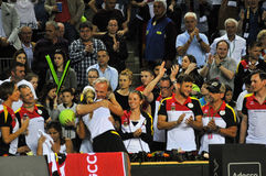 Women tennis match Stock Image