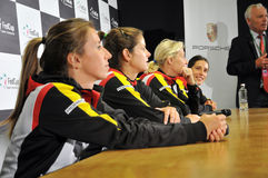 Women tennis team of Germany during a press conference Stock Photography