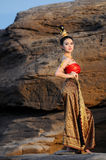 Women in Thai suit Royalty Free Stock Photo
