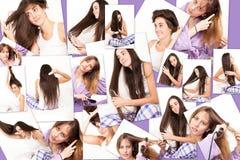 Women and their hair Stock Photos