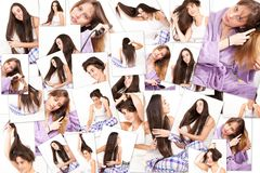 Women and their hair Stock Images