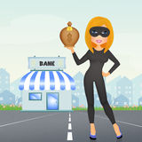 Women thief Royalty Free Stock Image