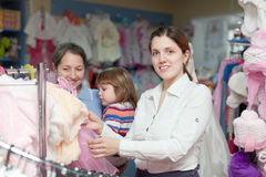 Women of three generations at clothes store Stock Photography