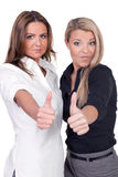 Women thumbs up Royalty Free Stock Photos