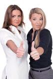Women thumbs up Royalty Free Stock Photos