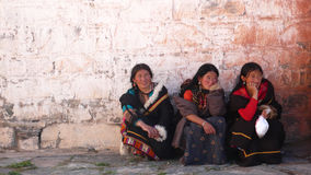 Women in Tibet Royalty Free Stock Photo