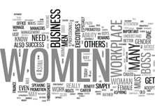 Women To Blame For Lack Of Female Executives Word Cloud Stock Images