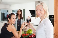 Women toasting Royalty Free Stock Images