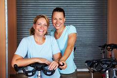 Women together in gym Royalty Free Stock Photos