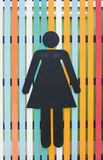 Women toilet sign Royalty Free Stock Image